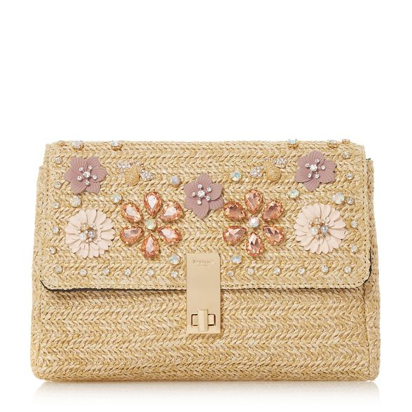 jewel Natural Dune clutch embellished raffia 'Elitia' ntYtqXdZwr
