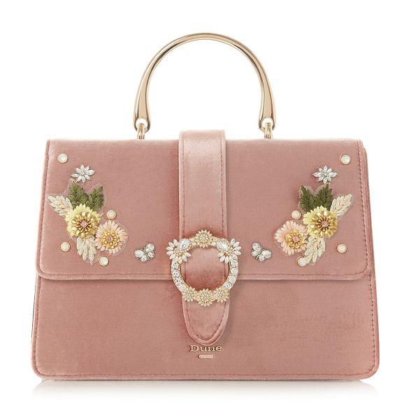 Light applique handbag pink 'Devvon' Dune flower dWx8qgd6