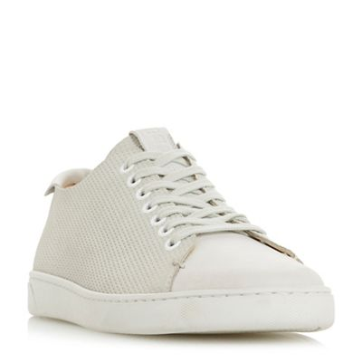 Bertie - Off white 'Tristian ii' perforated upper lace-up trainers