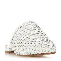Dune - White leather 'Darning' loafers