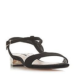 8650889697a Dune - Black suede  Mascara  block heel t-bar sandals