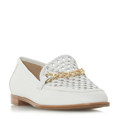 Dune loafers - White leather 'Galowe' loafers Dune 79fe4d