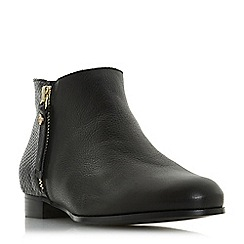 Dune - Black leather 'Pandders' ankle boots
