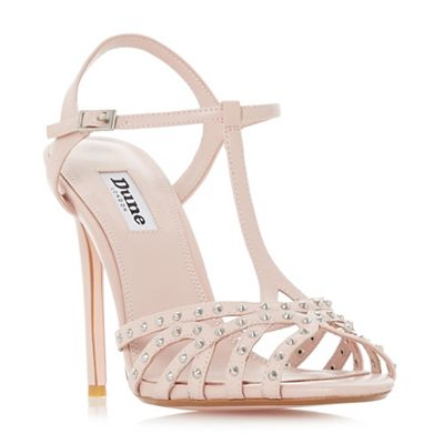 Dune - Pink leather 'Mavericke' high stiletto heel court shoes