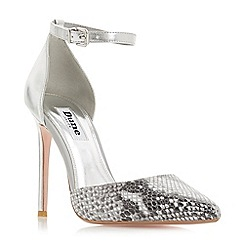 Dune - Grey leather 'Dixey' high stiletto heel court shoes