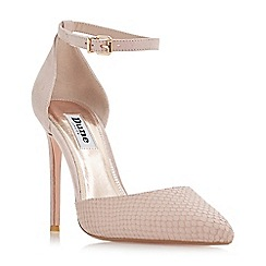 Dune - Light pink leather 'Dixey' high stiletto heel court shoes