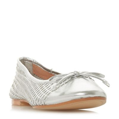 Dune - Silver leather 'Hennah' pumps