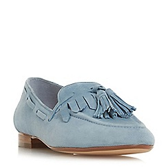 Dune - Blue suede 'Gianni' loafers