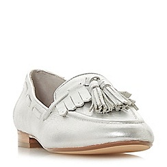 Dune - Silver leather 'Gianni' loafers