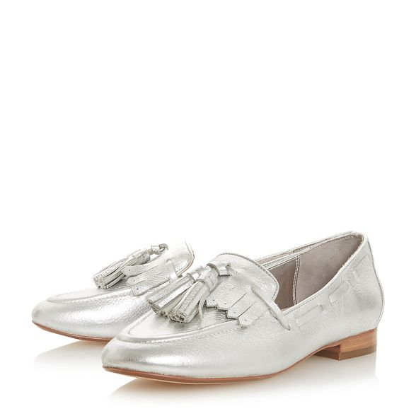 'Gianni' Dune Dune loafers leather 'Gianni' 'Gianni' loafers Silver Silver Silver leather Dune leather HgH1PxA