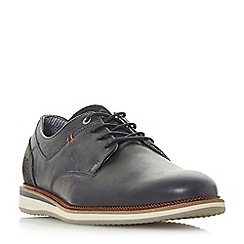 Dune - Navy 'Bodyguard' casual wedge sole gibson shoes