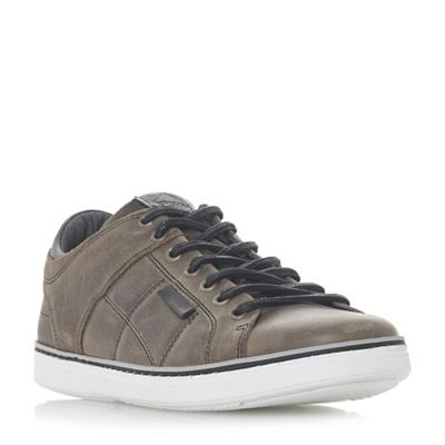 Dune - Grey quilted 'Tobey' quilted Grey panel trainers b8ce44