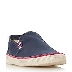 Dune - Navy 'Figo' canvas espadrilles slip-on shoes
