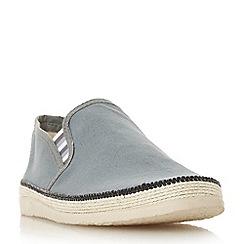 Dune - Grey 'Figo' canvas espadrilles slip-on shoes