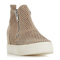 Steve Madden - Taupe suede 'Wedgie' p ' mid wedge heel casual trainers