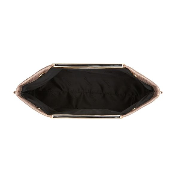 Dune fold textured Gold clutch over 'Electriic' Axfw6qrA