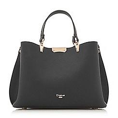 Dune - Black 'Darrow di' large textured handbag