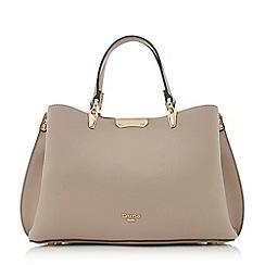 Dune - Lilac 'Darrow di' large textured handbag