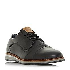 Dune - Navy 'Brawn' double toecap wedge gibson shoes