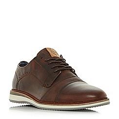 Dune - Tan 'Brawn' double toecap wedge gibson shoes