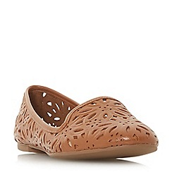 Dune - Tan leather 'galatia' pumps