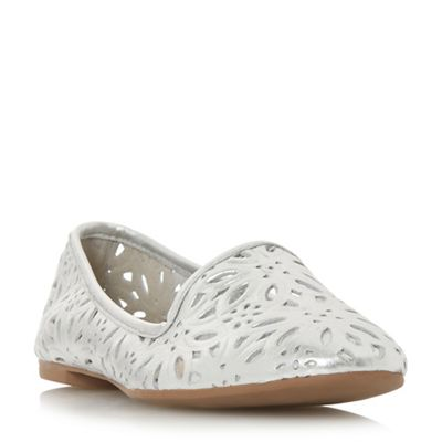 Dune - Silver leather 'Galatia' pumps