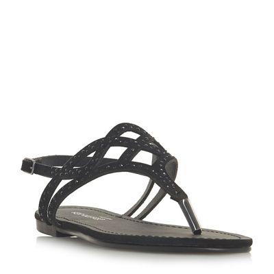 Head Over Heels by t-bar Dune - Black 'Loula' t-bar by sandals 0cdba3