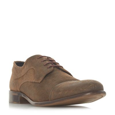 Bertie - Taupe 'Parallel' stitched toe cap gibson shoes