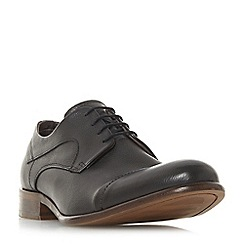 Bertie - Black 'Parallel' stitched toe cap gibson shoes