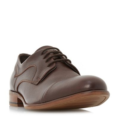 Bertie - Brown 'Parallel' stitched toe cap gibson shoes
