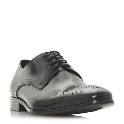 Dune - Black 'Puzzle' punch hole detail brogue shoes
