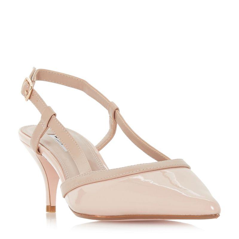 Dune - Pink Corra Mid Stiletto Heel Slingbacks