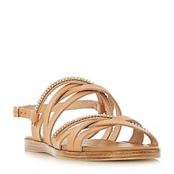 Dune - Tan leather 'Laiwu' ankle strap sandals