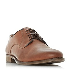 Bertie - Tan 'Percie' textured lace-up gibson shoes