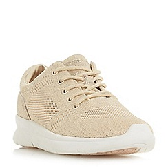 Dune - Light gold 'Euphoric' casual trainers