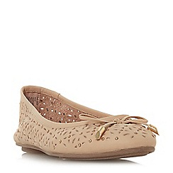Dune - Natural leather 'Helenn' ballet pumps