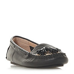 Dune - Black leather 'Greatful' loafers