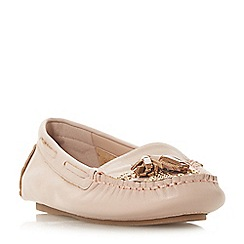 Dune - Light pink leather 'Greatful' loafers
