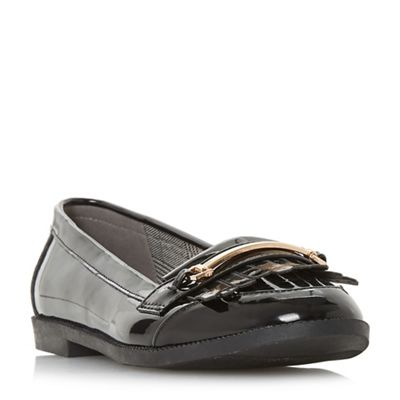 Head Over Heels by Dune - Black 'Goldiie' loafers