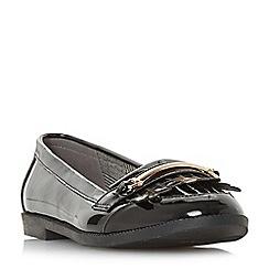 Head Over Heels by Dune - Black 'Goldiie' loafers