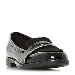 Head Over Heels by Dune - Black 'Gaia' loafers
