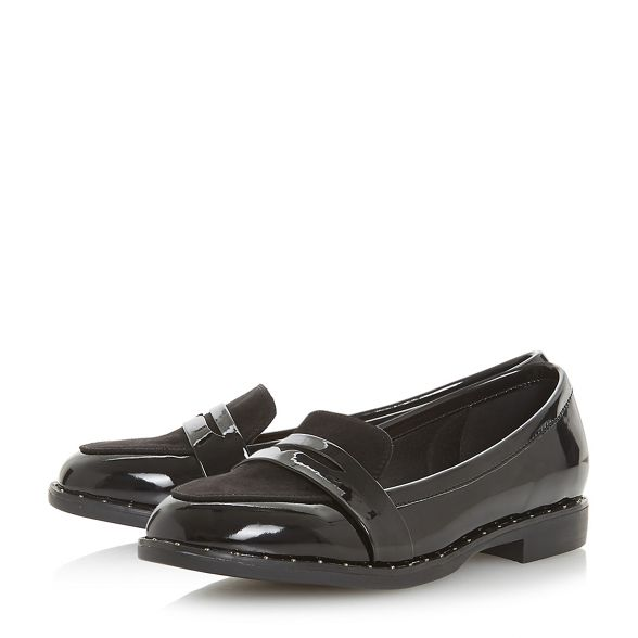 'Gaia' Head Over loafers Black Heels by Dune rXUrq0
