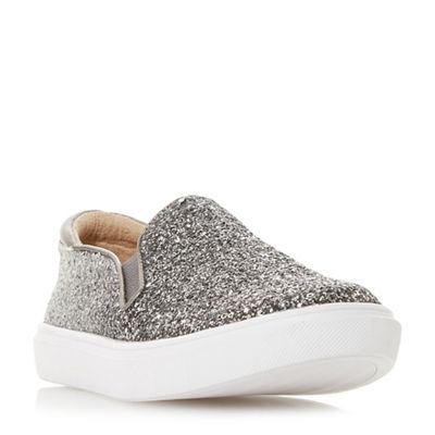 Head Over Heels by Dune - Silver 'Elanie' slip on trainers