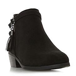 Head Over Heels by Dune - Black 'Palomma' mid block heel ankle boots
