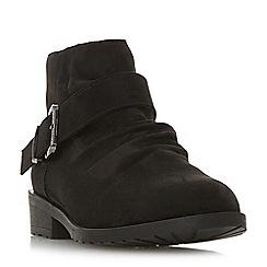 Head Over Heels by Dune - Black 'Pauline' block heel ankle boots