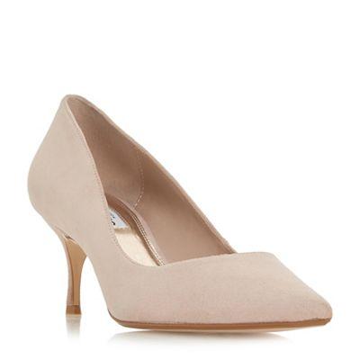 Dune - Light pink suede 'Astley 'Astley 'Astley t' mid stiletto heel court shoes 06c5b6