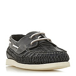 Bertie - Navy 'Billfish' woven sporty sole boat shoes