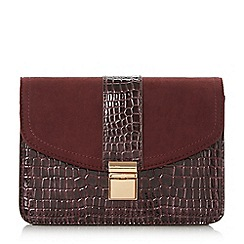 Head Over Heels by Dune - Boa' mixed material clutch