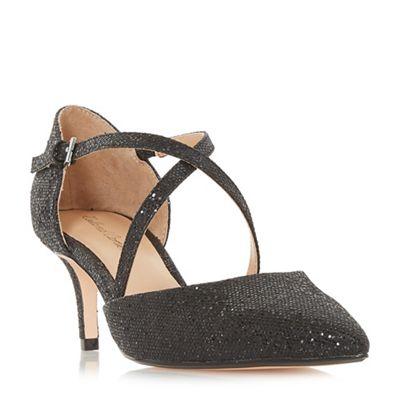 Roland Cartier - Black patent 'Doffy' kitten heel court shoes