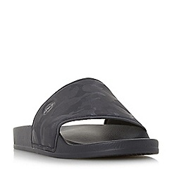 Dune - Navy 'Heath' camo sliders sandals